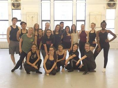 Academy students participated in master dance classes.